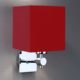 wandleuchte rot chrom eckig 73005 c0 rot wall ter 80x80 - Wandleuchte WALL-TER - eckig Lampenschirm rot - wandleuchten