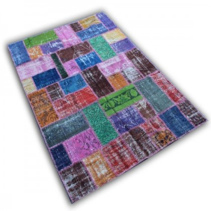 Recoloured Patchwork Teppich