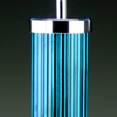 "Tischleuchte TUBE türkis blau <span style=""font-weight: normal; color: #000000;"">ein farbenfroher Blickfang</span>"